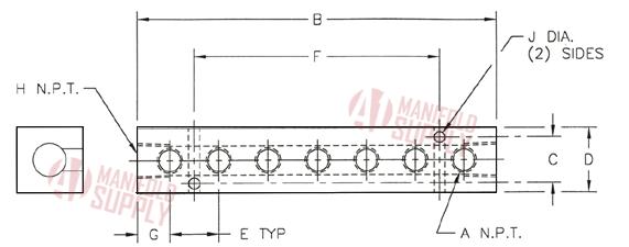 7 Port Aluminum Manifold by A1 Manifolds